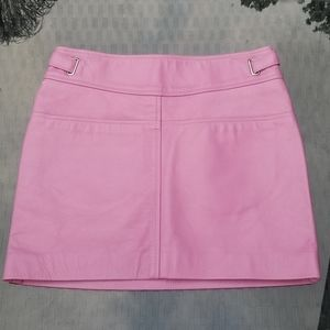 New!Coach Pink Leather Mini Skirt NWOT